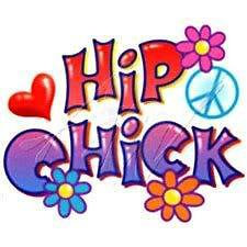 HIP CHICK T-SHIRTS GIFT NOVELTY JUNIORS TEENS HUMOR WO