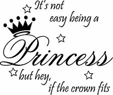**Princess with Crown Vinyl Home Wall Decal Decor **