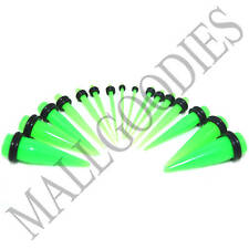 V036 Neon Green Stretchers Tapers Expenders 0 00G Gauge