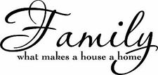 Family what makes a house Vinyl Decal Home Wall Decor