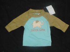 NWT GYMBOREE LITTLE PEANUT ELEPHANT SWIM RASHGUARD TOP