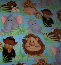 Jungle Babies Fleece Giraffe Lion Elephant Various Size