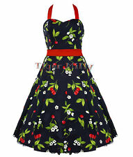 HEARTS & ROSES H&R 50's CHERRY rockabilly DRESS RED