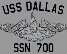 US Navy USS Dallas SSN-700 Submarine T-Shirt