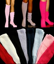 SLOUCH to KNEE SOCKS SEXY WORK OUT WOMEN'S MEN'S PICK COLOR LARGE