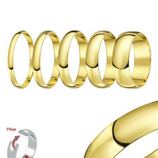New 9ct Yellow Gold Heavy D Shaped Wedding Ring Band