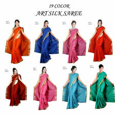 Indian Art Silk Sari saree Curtain Drape Panel Fabric Bellydance Veil Scarf NEW