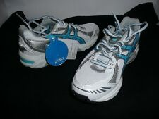 LADIES ASICS GEL-1150 RUNNERS WHITE/SILVER/BLUE BNWT