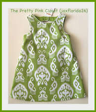 Gymboree Baby Girl Batik Print Summer Green Dress New with Tags