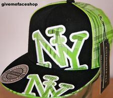 Ny Cal Check Plana pico de la PAC, Bling Fitted Hat Hip Hop