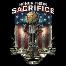 HONOR THEIR SACRIFICE COMFORT THEIR MILITARY T-SHIRT ALL SIZES AND COLORS
