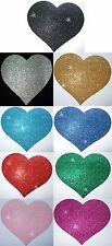 FABRIC GLITTER 4inch HEART IRON-ON craft DANCE COSTUME TSHIRT TRANSFER PATCH