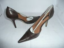 TONY BIANCO LADIES BROWN MOCCA CALF POLISH LEATHER HIGH HEEL SHOES NEW