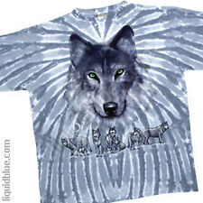 NEW Nature Grey Wolf American Wildlife Tie Dye  Premium T Shirt  M L XL 2X