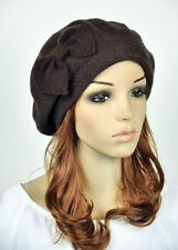 Classic Bow Spring's Wool Fashion Lady Women Dress Hat Beanie Ski Beret 3-Colors