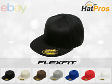 NEW Original FLEXFIT® 210 Premium Flatbill Blank Fitted Flat Bill Cap Hat 6210