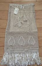 Handmade by Augden Paruma Skirt Size X-Small Ivory Color NW ANTHROPOLOGIE Tag
