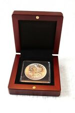 Mahogany Wood Grain Box for 1 Quadrum Coin Capsule Holder from Lighthouse