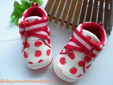 New  Girls White Soft Rubber Sole Baby Shoes 6-12mths,12-18mths,18-24mths