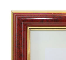 """Custom Wood Picture Frame - Designer 1 1/2"""" - RED - Any Size! Diplomas & Photos"""