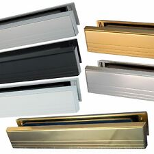 12'' Slimline Letterbox, Metal Letter Plate Set for Upvc or Timber Door - Slim