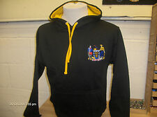 Cornwall Black & Gold Hoody With Embroidered Cornish Slogan