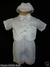 Baby Toddler Boy Christening Baptism Outfit Suit size S M L XL 2T 3T 4T (3M-36M)