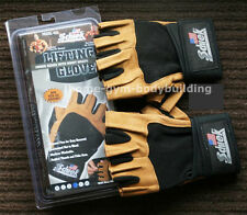 Schiek 425 Power Gel Weightlifting Gloves With Wrist Wraps NEW ALL SIZE Lifting