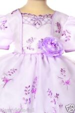 baby toddler girl Pageant Evening Birthday Formal Lilac dress size SMLXL (0-36M)