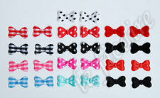 Mini Bow Ties Appliques Embellishments Satin Polka Dots Glitter PVC Solid #2500