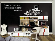 """"""" Listen to the music    """"  Vinyl Wall Decal"""