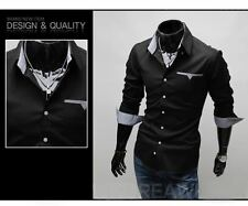 USC6083 New Mens Luxury Casual Slim Fit Stylish Dress Shirts 3 Colors