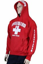 LIFEGUARD HOODIE JERSEY SHORE OFFICIALLY LICENSED SWEATSHIRT RED NJ ADULT MENS