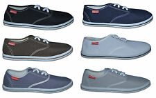 Mens Plain Canvas Shoes, Colour Navy, Grey & Beige, Size 6 to 11 Free Postage!!