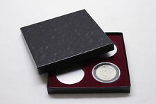 DISPLAY BOX FOR COINS IN AIRTITE CAPSULE HOLDER 4 I, AIR-TITE, BURGUNDY