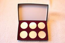 DISPLAY BOX FOR COINS IN AIRTITE CAPSULE HOLDER 6 I, AIR-TITE, BURGUNDY