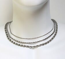 "Stainless Steel Necklace Rope Chain 2mm-4mm 18"",20"",22"",24"""