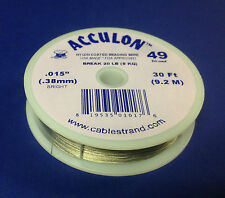 New Acculon 49 Strand Beading Wire - Choose Gauge and Length