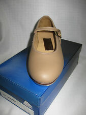 PAUL WRIGHT Leather Tap Shoes, Tan, Children's Sizes, New