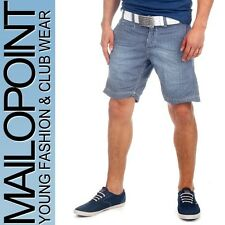 8588 Jack & Jones Herren Bailey Chino Shorts Capri Hosen blau kariert Neu