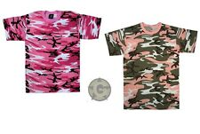 T-Shirt Hot Pink Camo or Subdued Pink Camouflage Tee Shirts Women's Tee
