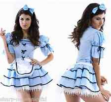 ☆ NEW Ladies 3 Piece Alice in Wonderland Sexy Fancy Dress Costume Outfit ♥☆