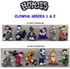 12 RETIRED HOMIES CLOWNS SERIES 1 AND CLOWNS SERIES 2 FIGURE SETS- YOU PICK ONE!