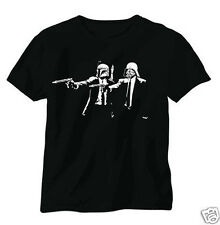STAR WARS PULP FICTION CULT BANKSY SCREENPRINT FUNNY COOL T SHIRT