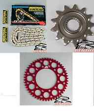 Renthal O Ring Chain And Red Sprocket Kit CR CRF 125/250/450/500 R X Motocross