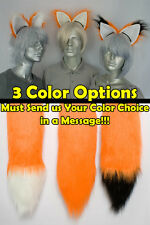 Orange Furry Fox Tail and/or Ears Cosplay Accessories