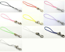 100 Cell Phone Lobster Clasp Lanyard Strap 0.7mm Cords M0107