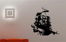 Army soldier military man wall art sticker bedroom Kids Childrens decal