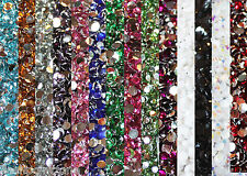 1000 Crystal Flat Back Acrylic Rhinestones Gems 14 colors, 2mm , 3mm , 4mm ,5mm
