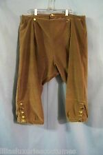 Plus-sized Broad-front Deluxe Breeches Brocade Velvet POTC Pirate 18th Rev War